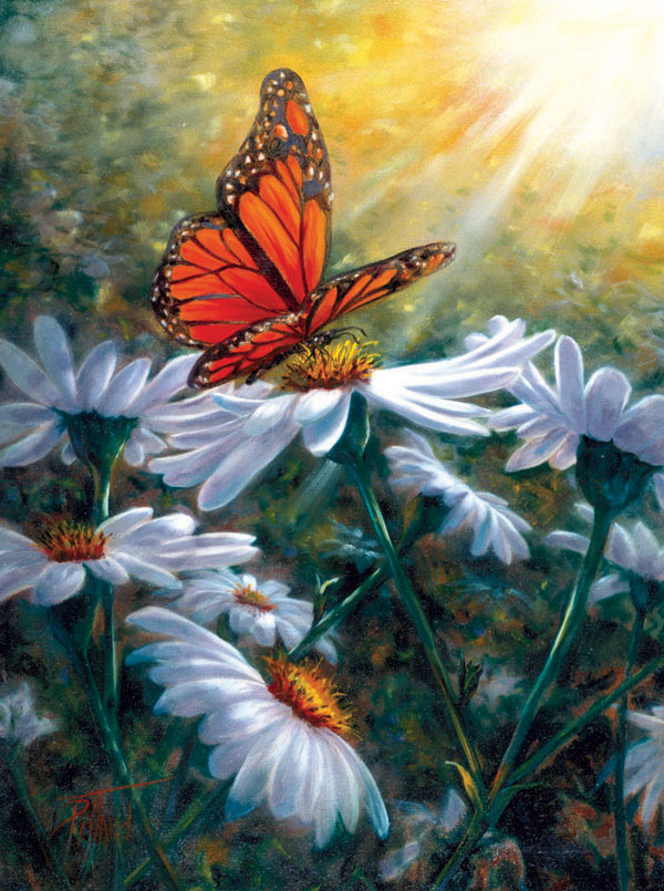 Resting Place Butterflies and Insects Jigsaw Puzzle