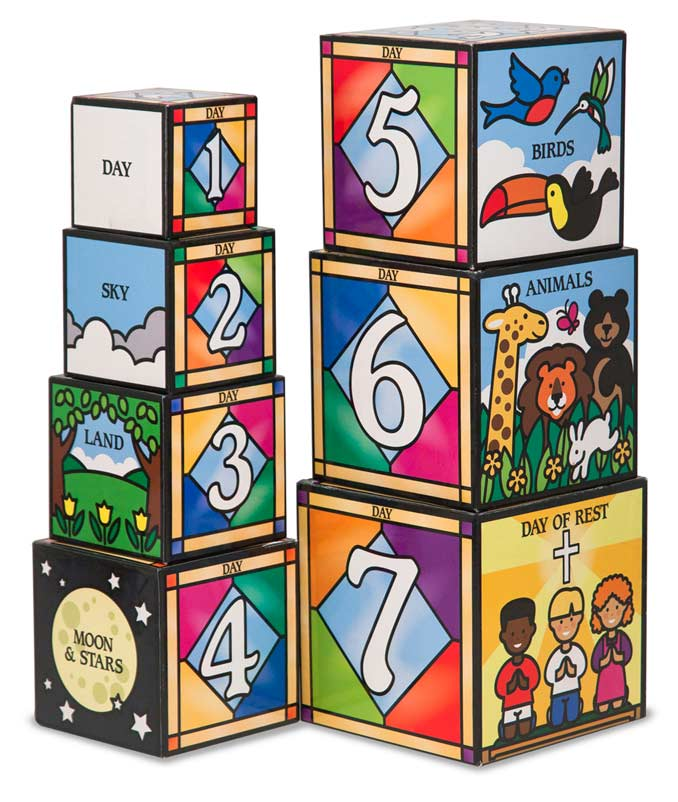 Days of Creation Nesting Blocks Educational Toy