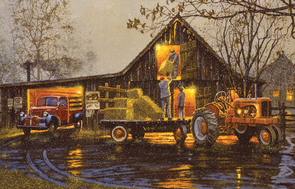 Last Chore of the Day Farm Jigsaw Puzzle