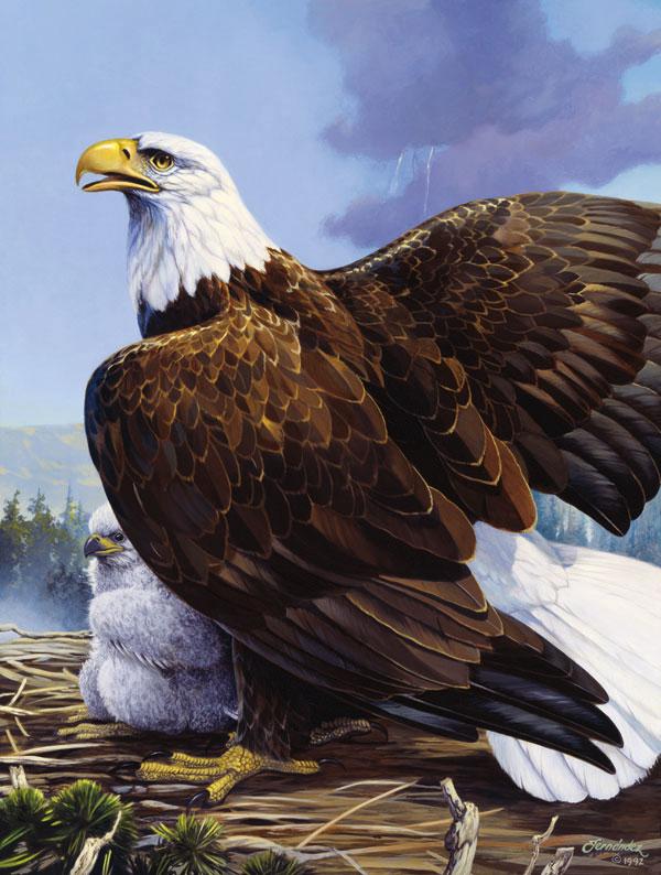 Mama's Perch Eagles Jigsaw Puzzle