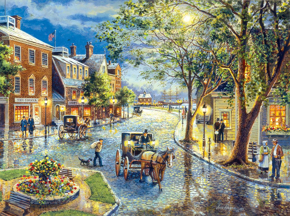 Seaport Marketplace Street Scene Jigsaw Puzzle
