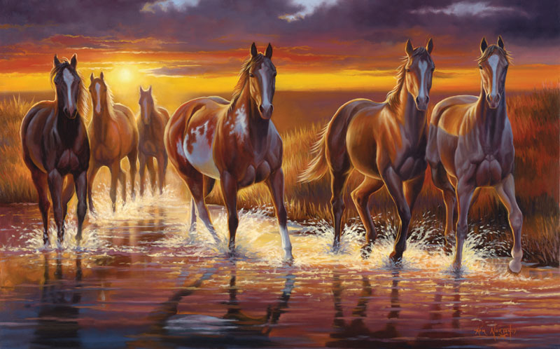 Desert Jewels Horses Jigsaw Puzzle
