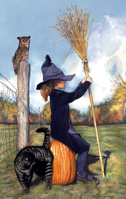 Waiting for the Witching Hour Halloween Jigsaw Puzzle