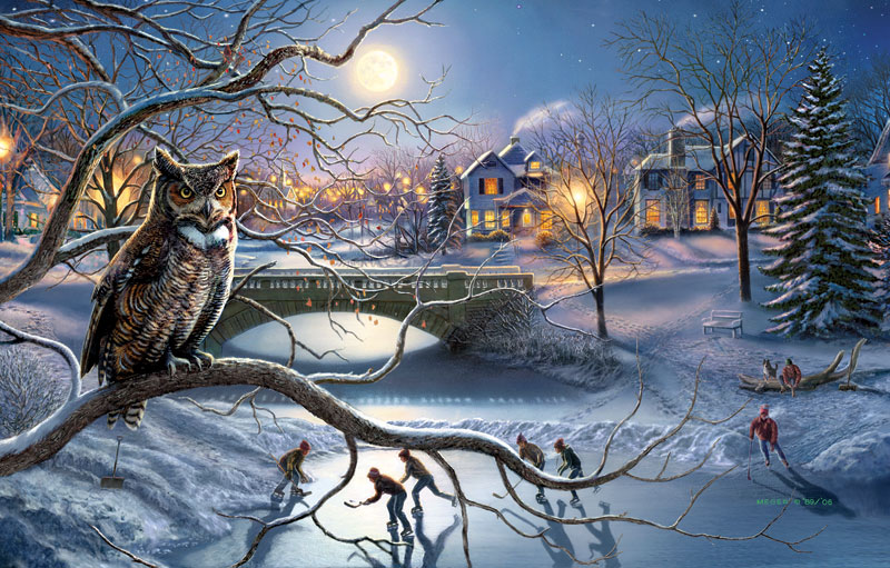 The Edge of Town Birds Jigsaw Puzzle