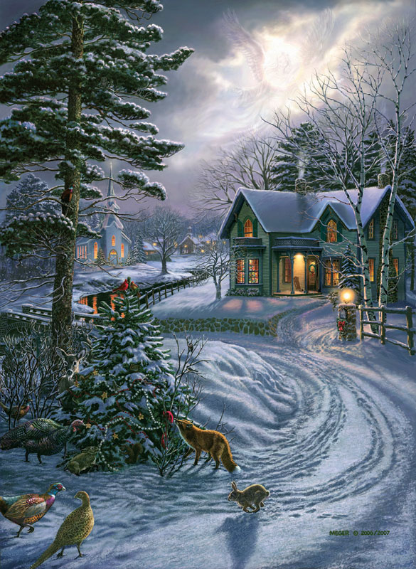 Heavenly Peace Winter Jigsaw Puzzle