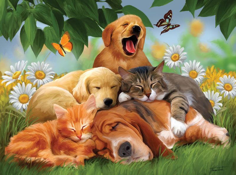 Sleepy Heads Dogs Jigsaw Puzzle