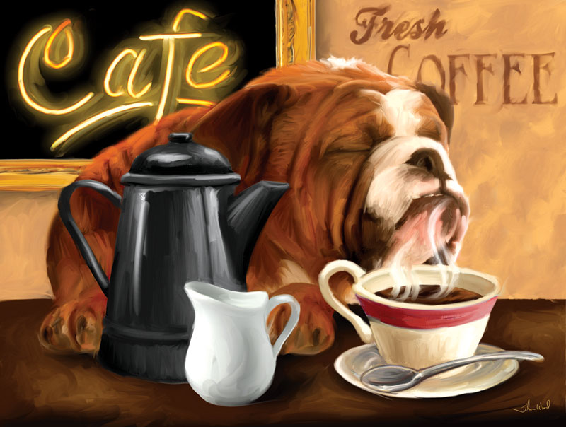 Morning Cup Dogs Jigsaw Puzzle