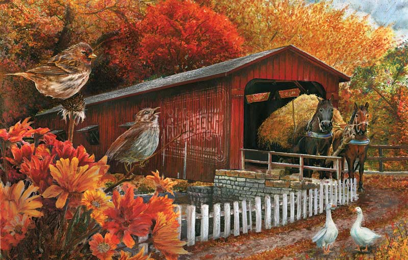 The Old Covered Bridge Jigsaw Puzzle Puzzlewarehouse Com