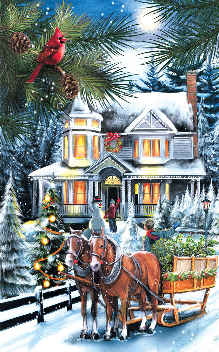 Here comes the Tree - Scratch and Dent Winter Jigsaw Puzzle