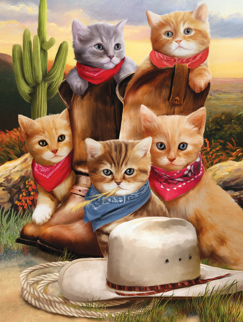 Desperadoes Cats Jigsaw Puzzle