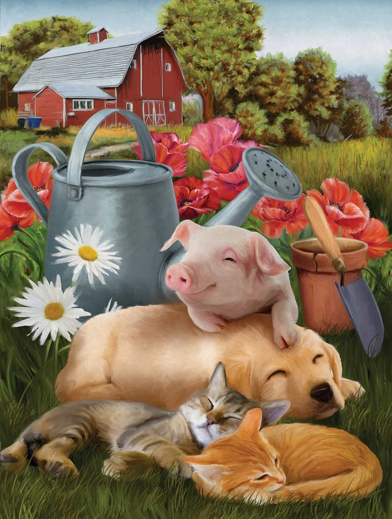 Lazy in the Sun - Scratch and Dent Farm Jigsaw Puzzle