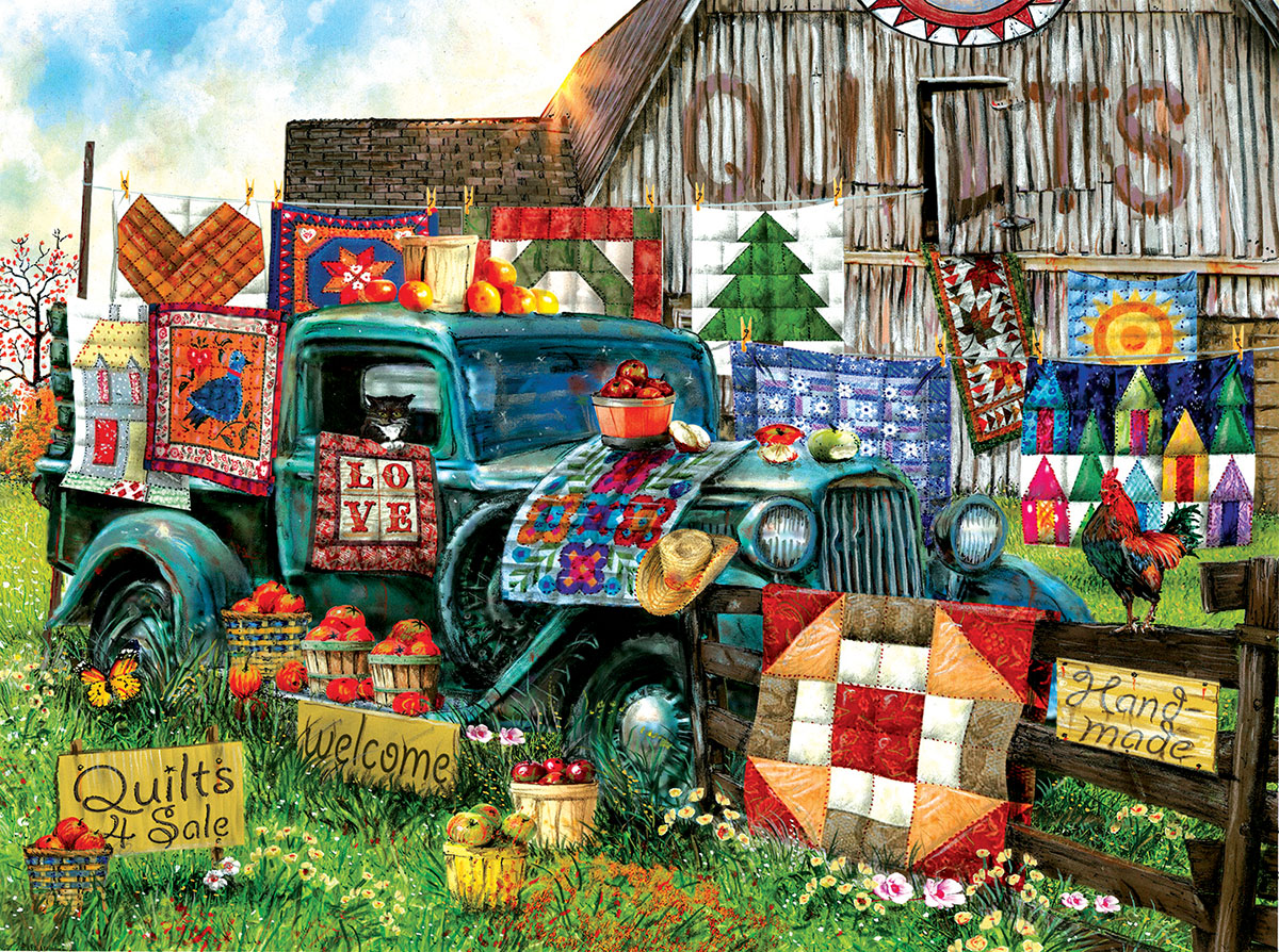 Quilts for Sale Countryside Jigsaw Puzzle