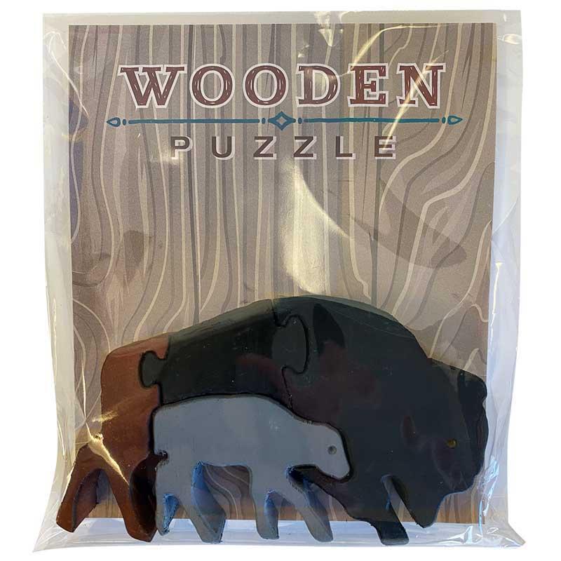 Bison Wooden Puzzle Animals Wooden Jigsaw Puzzle