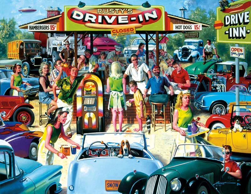 Rusty's Diner Americana Jigsaw Puzzle