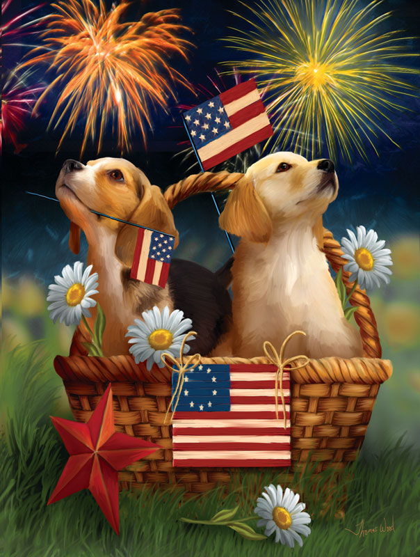 Yankee Doodle Pups Dogs Jigsaw Puzzle