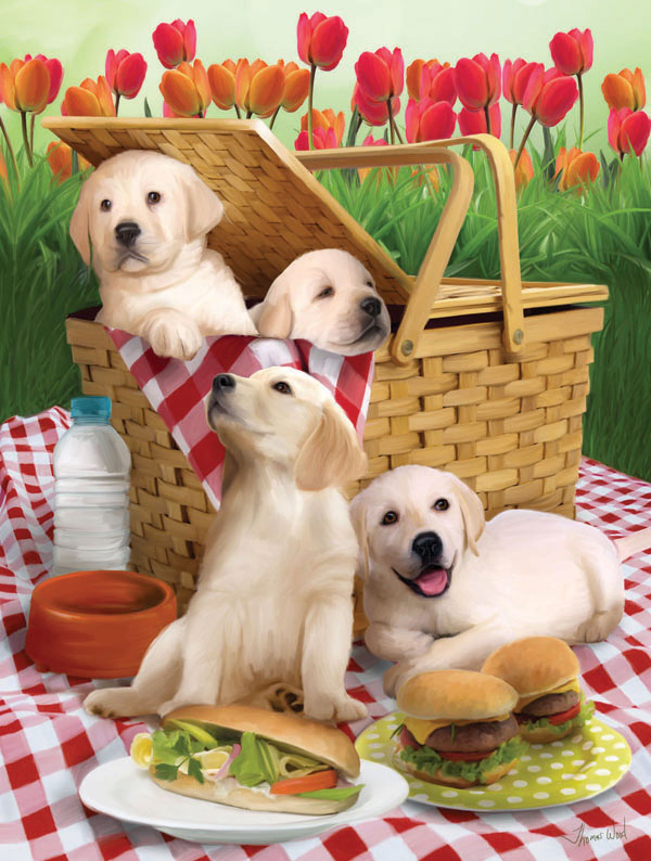 Picnic Time Dogs Children's Puzzles