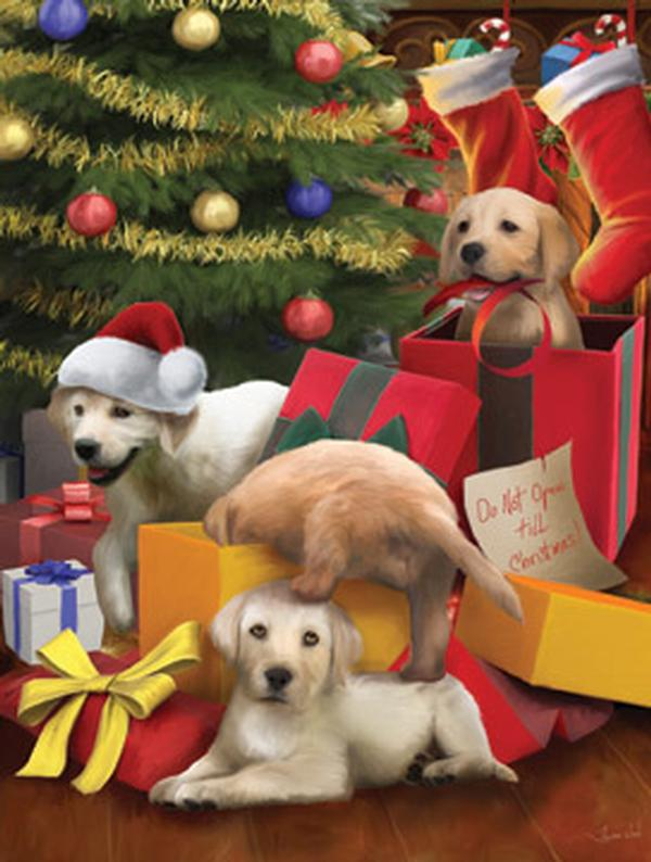 Don't Open Until Chirstmas Christmas Jigsaw Puzzle