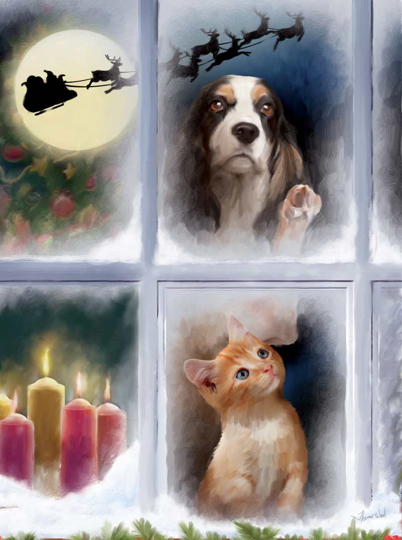 The Night before Christmas Cats Jigsaw Puzzle