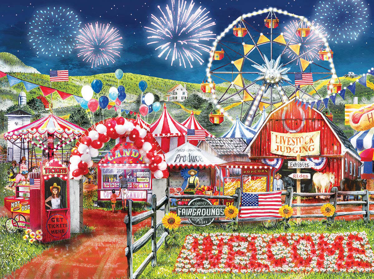 Made in the U.S.A. Farm Jigsaw Puzzle