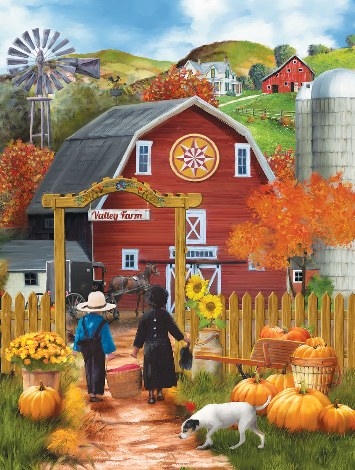 Valley Farm Farm Jigsaw Puzzle