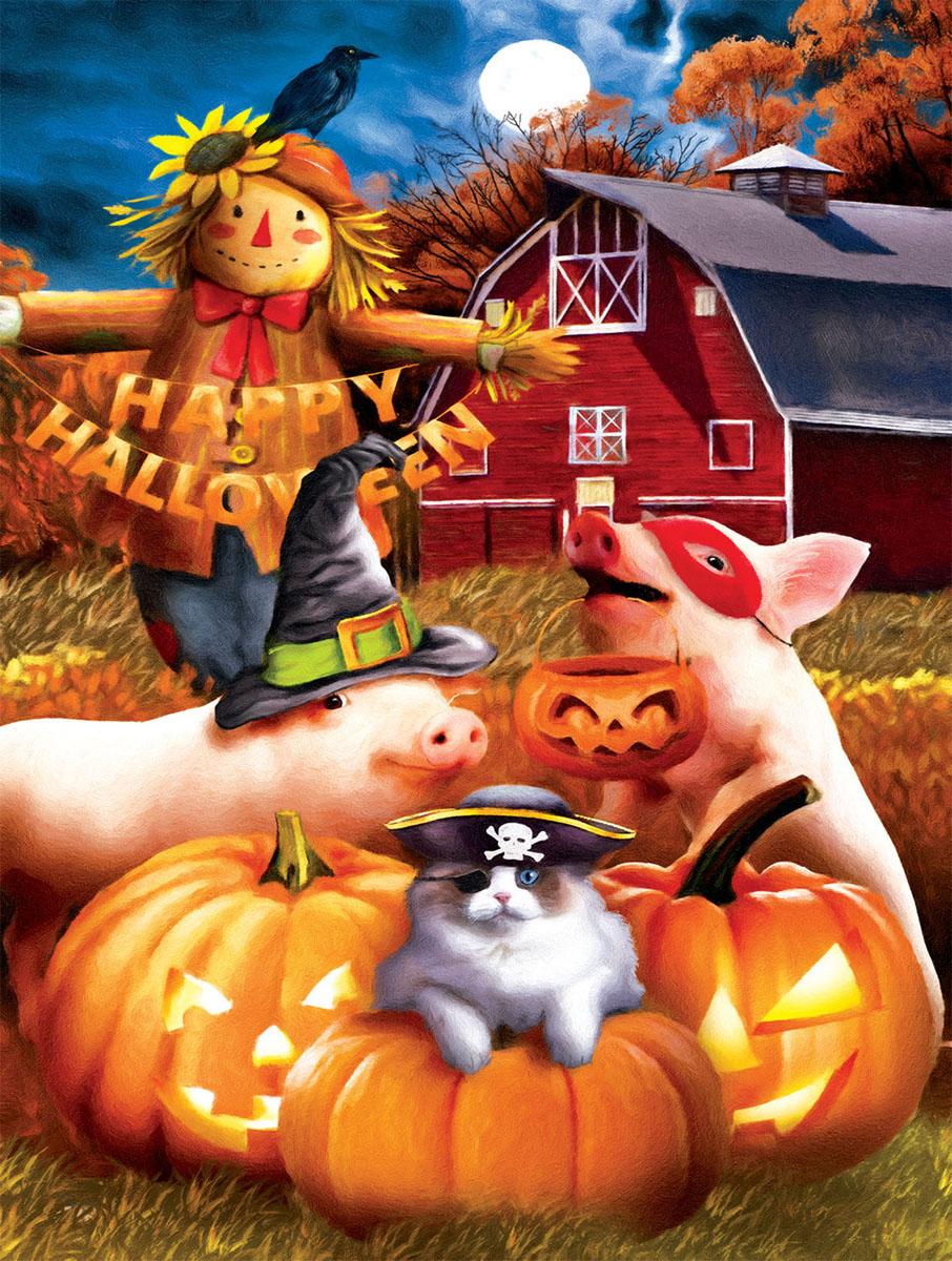 Happy Halloween Animals Jigsaw Puzzle