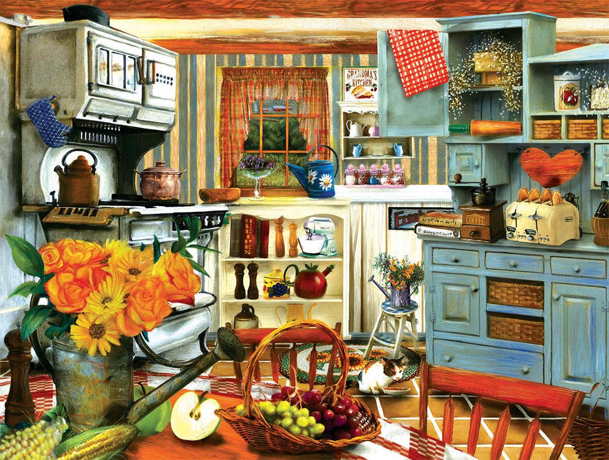 Grandma's Country Kitchen Kitchen Jigsaw Puzzle