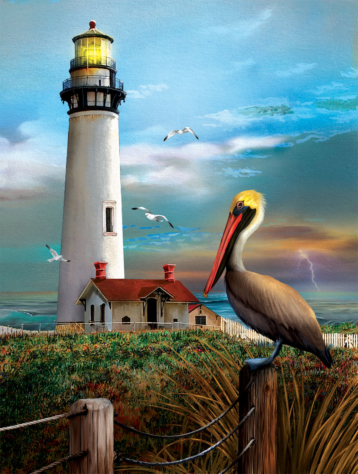 Pigeon Point Lighthouse Lighthouses Jigsaw Puzzle