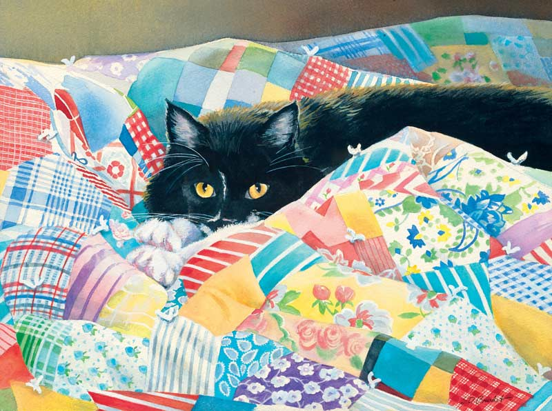 Grandma's Quilt Cats Jigsaw Puzzle