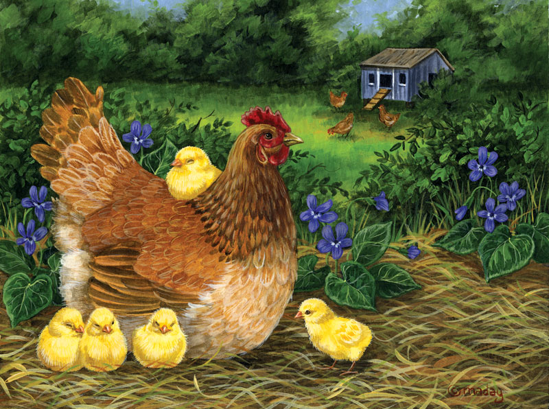 Down Comforter Farm Animals Jigsaw Puzzle