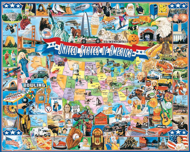 United States Of America Jigsaw Puzzle Puzzlewarehouse Com