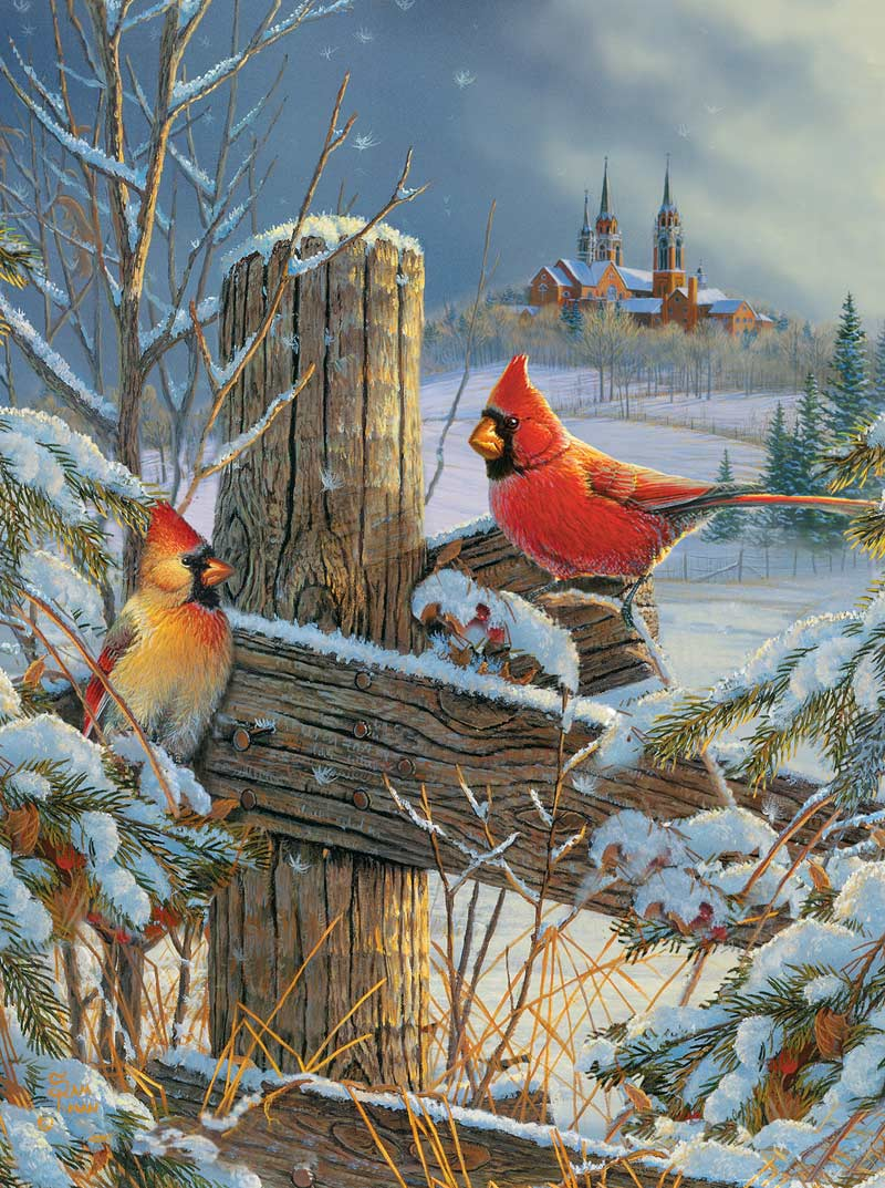 Holy Hillside Birds Jigsaw Puzzle
