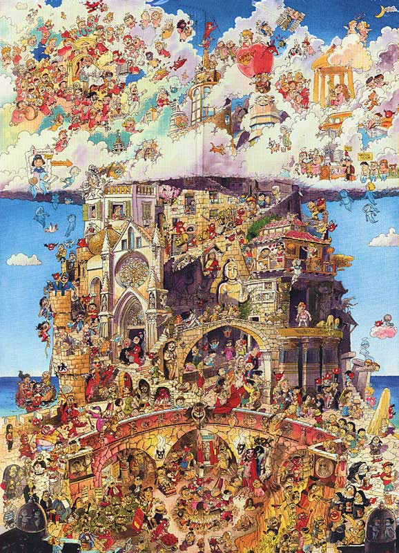 Heaven and Hell Religious Jigsaw Puzzle