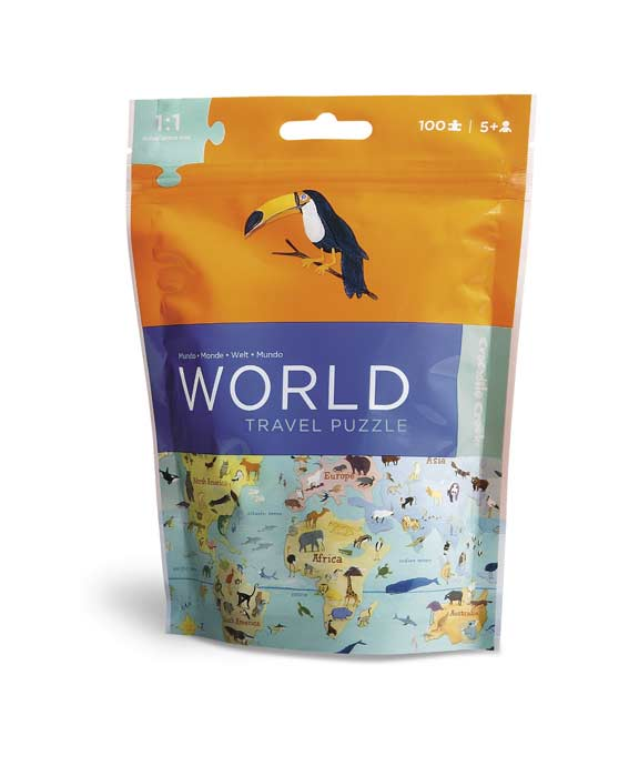 Travel Pouch Puzzle - World Educational Jigsaw Puzzle