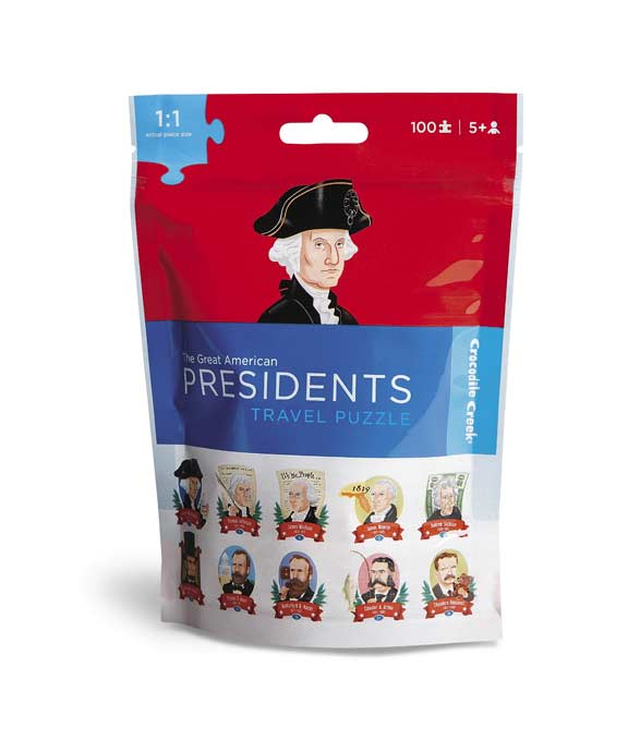 Travel Pouch Puzzle - Presidents Educational Jigsaw Puzzle