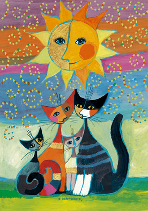 Sun Cats Glitter / Shimmer / Foil Puzzles