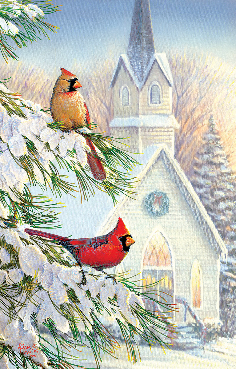 Friends for the Season Birds Jigsaw Puzzle