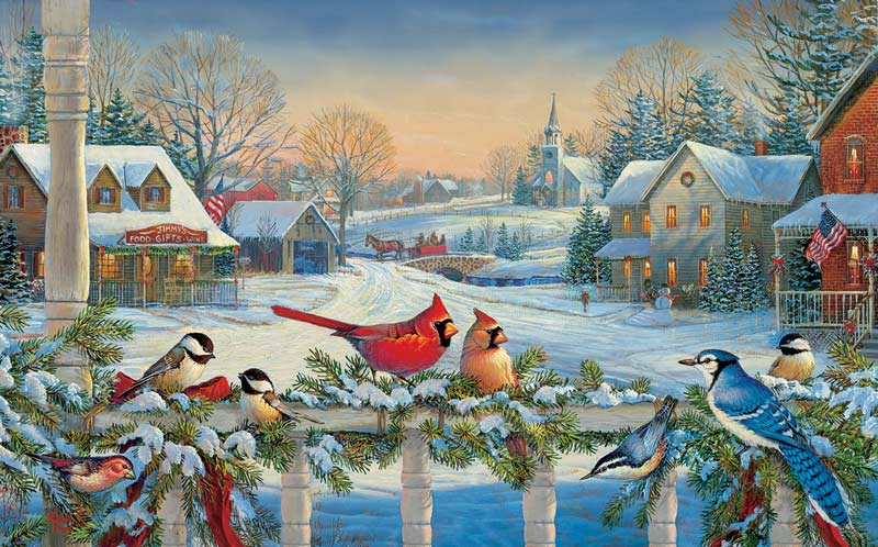 Town Meeting Birds Jigsaw Puzzle