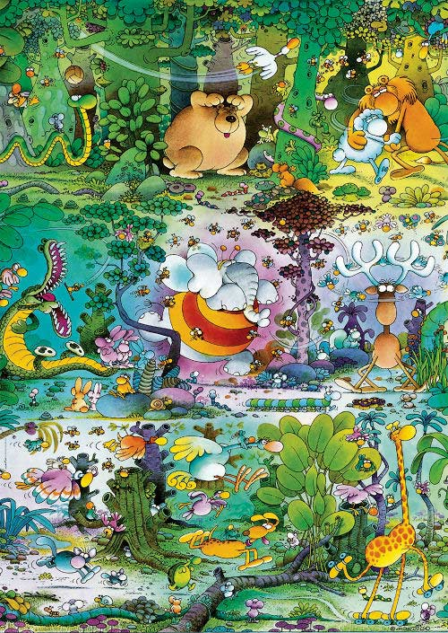 Mordillo, Wildlife Jungle Animals Jigsaw Puzzle