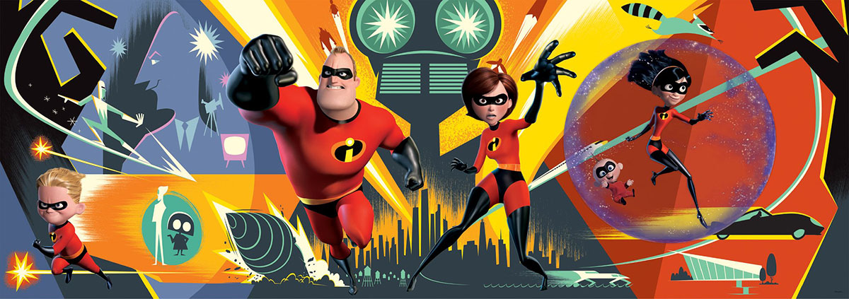 Incredibles 2 (Disney Panoramic) - Scratch and Dent Disney Jigsaw Puzzle