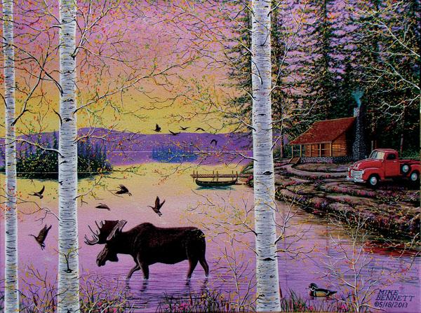 Moose Lodge Wildlife Jigsaw Puzzle