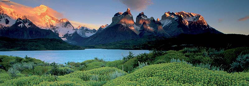 Cuernos del Paine Lakes / Rivers / Streams Jigsaw Puzzle