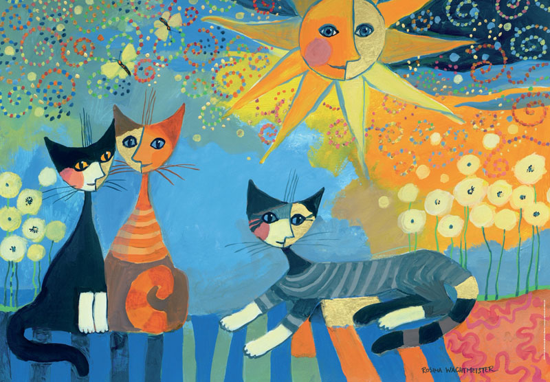 Wachtmeister, Stripes Cats Glitter / Shimmer / Foil Puzzles