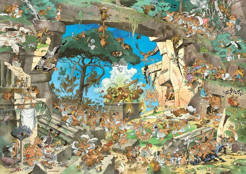 Calligaro, Satyrs Cartoons Jigsaw Puzzle