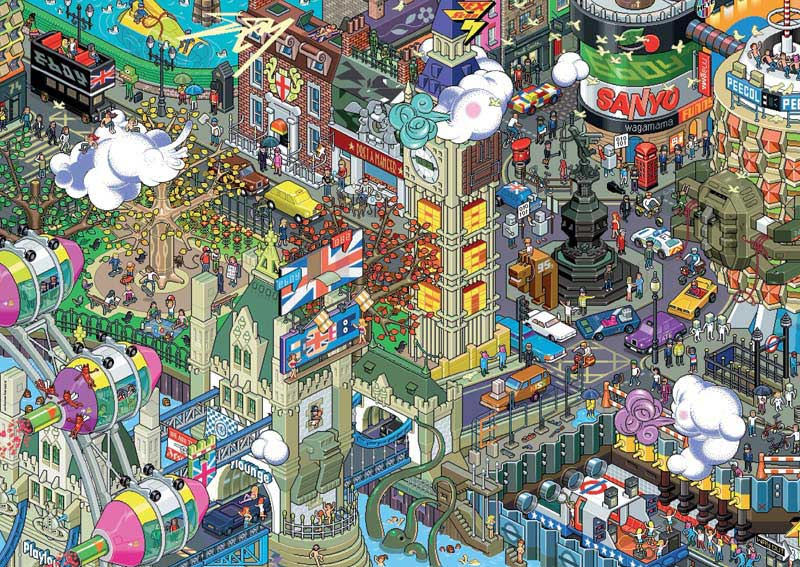 eBoy, London Cartoons Jigsaw Puzzle