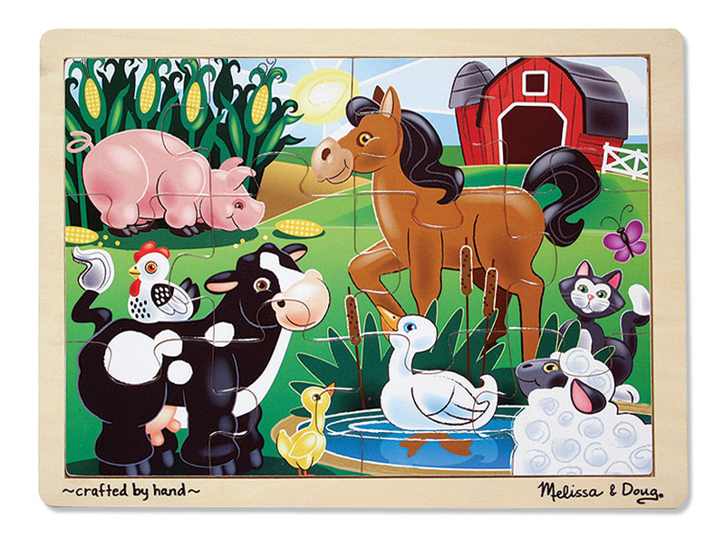 On the Farm Farm Animals Children's Puzzles