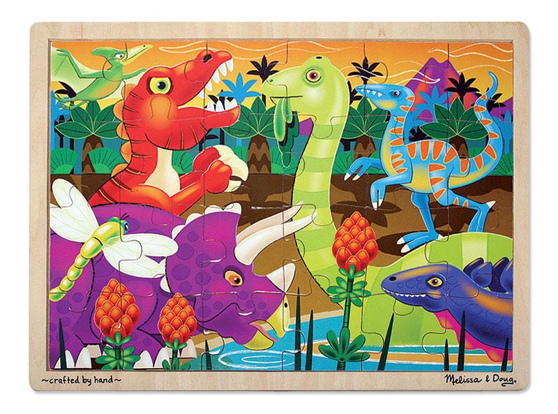 Prehistoric Sunset Dinosaurs Children's Puzzles
