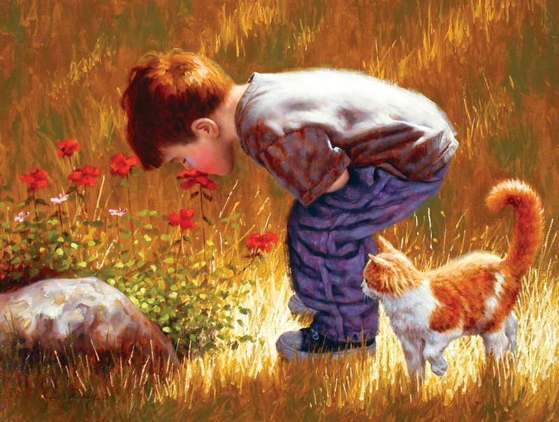 A Quick Sniff Cats Jigsaw Puzzle