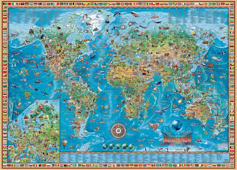 Amazing world jigsaw puzzle puzzlewarehouse amazing world maps geography jigsaw puzzle gumiabroncs Choice Image