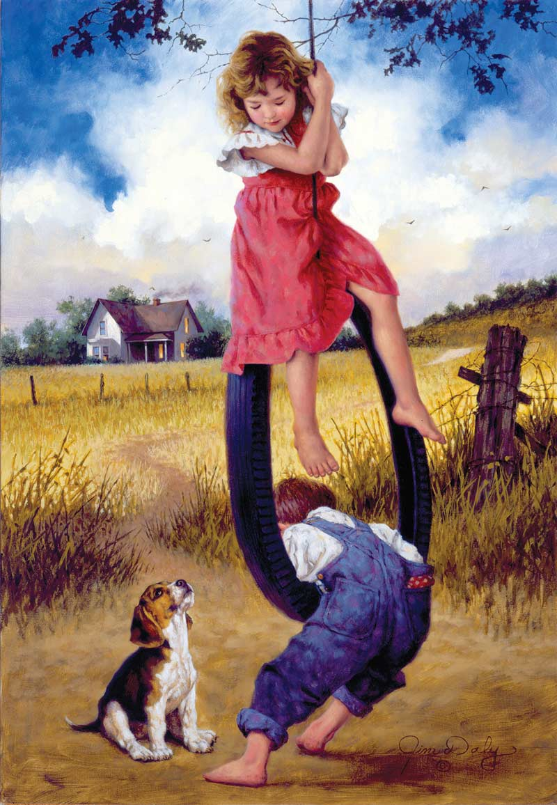 Just Hanging Around Countryside Jigsaw Puzzle
