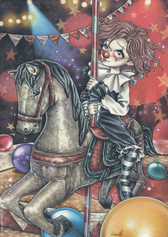 Misty Circus, Carousel Carnival Jigsaw Puzzle